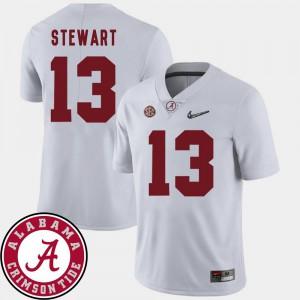 Alabama ArDarius Stewart Jersey College Football White #13 Mens 2018 SEC Patch College 882057-947