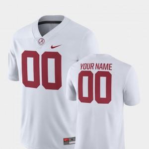 For Men 2018 Game College Football Player Bama Custom Jersey White #00 733357-981