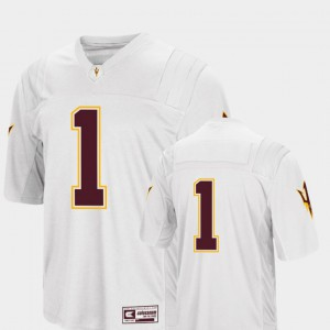 #1 College Football Colosseum 2018 Mens Alumni Arizona State University Jersey White 822144-470