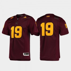 #19 Maroon Official Premier Arizona State Jersey Football For Men 966266-803