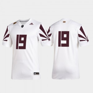 Premier Football 2019 Special Game Mens Arizona State Sun Devils Jersey #19 White Player 855259-515