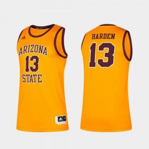 Alumni Men Arizona State University James Harden Jersey Gold #13 Classic Alumni 709900-410
