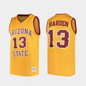 Alumni #13 Alumni Gold ASU James Harden Jersey For Men's College Basketball 472902-745