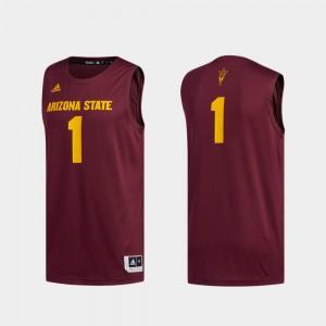 Basketball Swingman Swingman Basketball For Men Maroon ASU Jersey #1 Player 809331-384