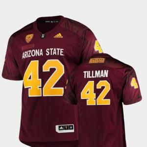 Stitched #42 Sun Devils Pat Tillman Jersey Men's Game Special Premier Maroon 684855-703