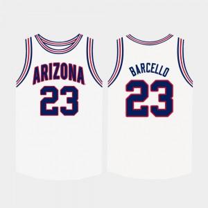 High School White #23 University of Arizona Alex Barcello Jersey For Men College Basketball 368545-650