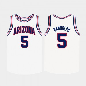 College Basketball Wildcats Brandon Randolph Jersey Men Official #5 White 985186-344