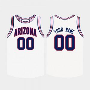 College Basketball #00 U of A Customized Jerseys White High School Mens 605056-910