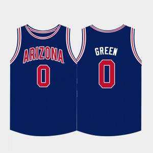 Arizona Wildcats Josh Green Jersey Men's Navy College Basketball Embroidery #0 567987-735