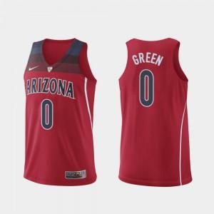 Player #0 Hyper Elite College Basketball Authentic Red Mens Arizona Wildcats Josh Green Jersey 340897-799