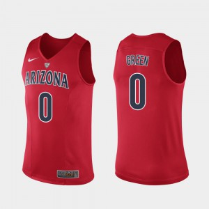 UofA Josh Green Jersey Red For Men's Hyper Elite Performance Player #0 Authentic 497827-765