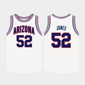 U of A Kory Jones Jersey White #52 College Basketball High School Men 346454-195
