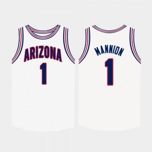 College Basketball U of A Nico Mannion Jersey College White #1 Men 179018-226