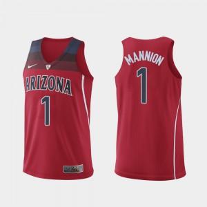 #1 Mens Alumni Hyper Elite College Basketball UofA Nico Mannion Jersey Red Authentic 242658-324