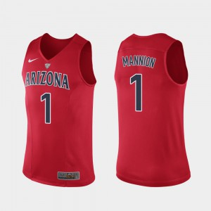 Authentic Official Hyper Elite Performance Men's Red Wildcats Nico Mannion Jersey #1 986316-678