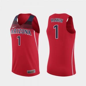 Red Replica Stitch College Basketball Arizona Wildcats Nico Mannion Jersey #1 Men's 170917-305