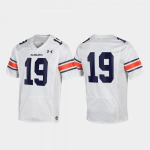 #19 Stitched White Tigers Jersey Men Replica 985304-931