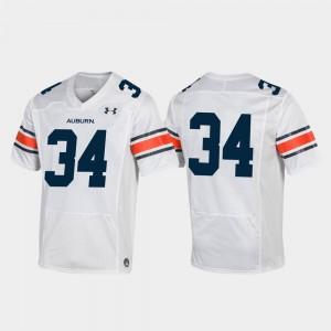Football #34 Replica Auburn University Jersey White Mens University 884631-797