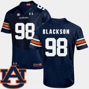 College Football Stitch Men's Navy AU Angelo Blackson Jersey #98 SEC Patch Replica 883980-494