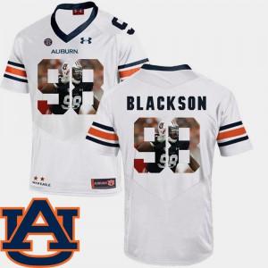 Pictorial Fashion Auburn Angelo Blackson Jersey University Football #98 White For Men 520598-135