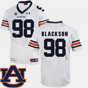 #98 White SEC Patch Replica Mens College Football AU Angelo Blackson Jersey Official 843215-119