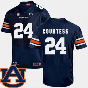 Men's SEC Patch Replica Navy #24 College Football Auburn University Blake Countess Jersey College 491300-643