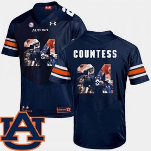 Auburn University Blake Countess Jersey Navy Mens Football Stitched #24 Pictorial Fashion 931005-289