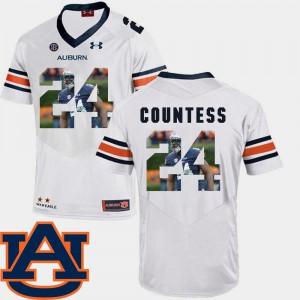 #24 Pictorial Fashion Football AU Blake Countess Jersey White Men's Stitched 852865-927