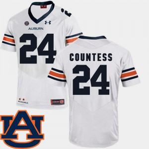 SEC Patch Replica Stitched For Men AU Blake Countess Jersey #24 College Football White 134240-493