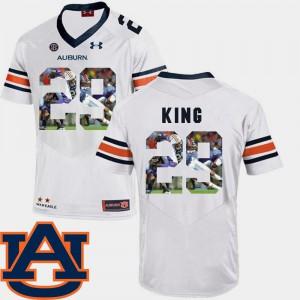 Stitch Tigers Brandon King Jersey Football White Men's Pictorial Fashion #29 743952-267
