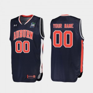 AU Customized Jerseys For Men 2019 Final-Four Embroidery #00 Navy Replica 562684-453