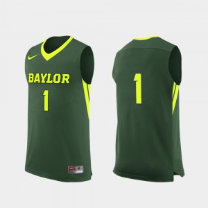 Green College Basketball College #1 For Men Replica Baylor University Jersey 276778-875