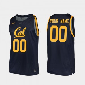 Replica Cal Bears Customized Jersey 2019-20 College Basketball For Men's Player #00 Navy 748123-464