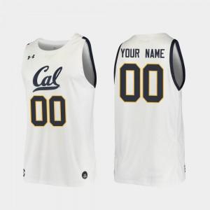 Mens Berkeley Customized Jerseys Replica 2019-20 College Basketball High School White #00 403775-866