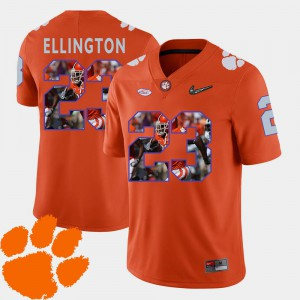 Pictorial Fashion Orange Clemson Andre Ellington Jersey For Men's Football #23 Embroidery 501928-318