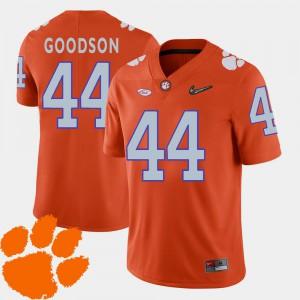 2018 ACC #44 College Football Clemson Tigers B.J. Goodson Jersey Orange Mens NCAA 689935-687