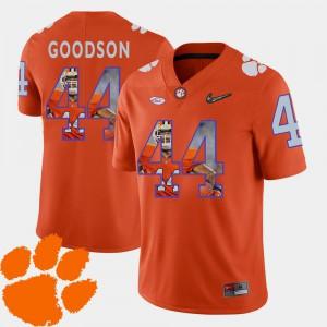 Football Pictorial Fashion #44 Clemson B.J. Goodson Jersey Orange Mens High School 977792-308