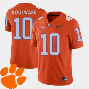 College Football CFP Champs Ben Boulware Jersey 2018 ACC Orange Stitch #10 For Men's 423648-616