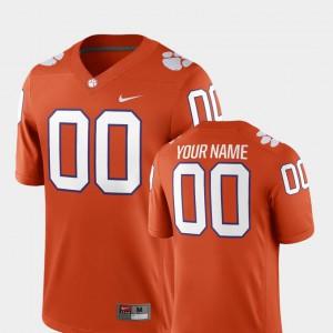 #00 High School CFP Champs Custom Jersey College Football 2018 Game Orange For Men 283704-320