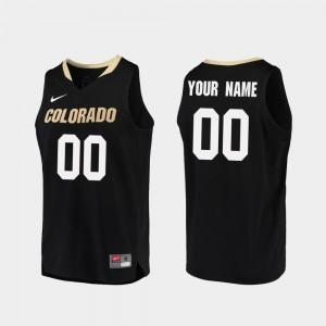Mens CU Boulder Customized Jerseys Replica #00 College Basketball Black NCAA 167983-452