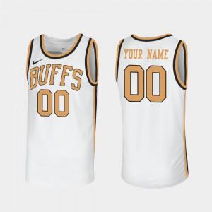 Alumni #00 Sox Walseth-Era For Men's Throwback White Colorado Buffaloes Customized Jersey 834251-320