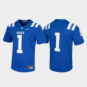 Blue Devils Jersey Game Royal For Men Untouchable #1 University 362912-688