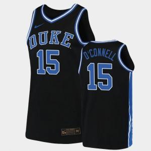 For Men Duke Alex O'Connell Jersey Black #15 Replica Stitch 2019-20 College Basketball 404256-602