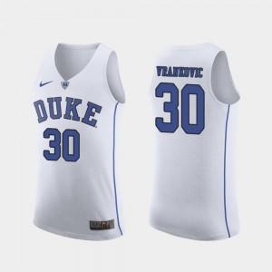 White High School Authentic #30 For Men's March Madness College Basketball Duke University Antonio Vrankovic Jersey 260042-303