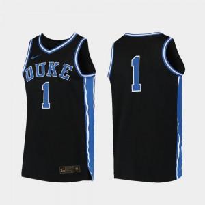Black #00 College Basketball Duke University Jersey For Men Replica Official 642267-603