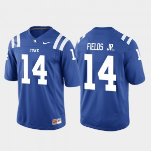 Royal College Football For Men's Blue Devils Bryon Fields Jr. Jersey #14 Game Official 473905-221