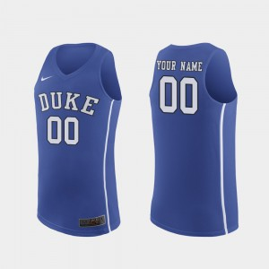 For Men's Official Authentic Blue Devils Custom Jerseys #00 Royal March Madness College Basketball 556370-929