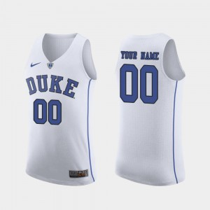 March Madness College Basketball Mens Authentic College Duke Blue Devils Custom Jerseys White #00 309421-854