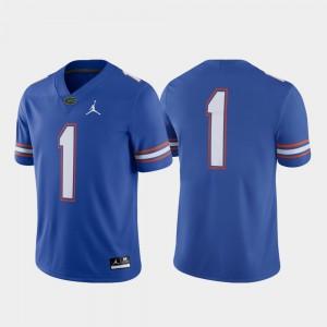 Game #1 Embroidery Football Florida Gator Jersey Royal Mens 970752-232