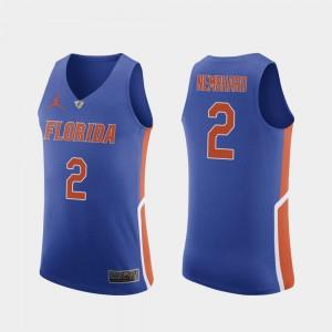 UF Andrew Nembhard Jersey #2 University College Basketball Royal Men's Authentic 150498-237